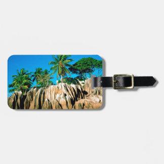 Tropical Island Found Seychelles Luggage Tag