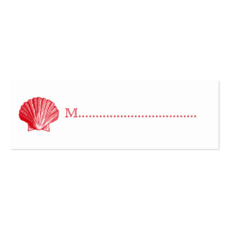 Tropical Island Ginger Red Shell Seating Cards Pack Of Skinny Business Cards