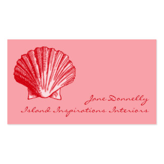 Tropical Island Ginger Sea Shell Business Cards