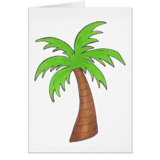 Tropical Island Green Palm Tree Palmtree Print Card