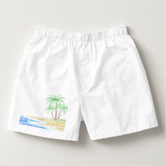 Tropical Island illustrated with cities of Florida Boxers