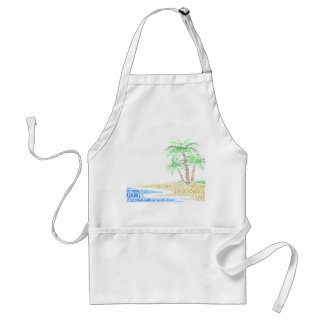 Tropical Island illustrated with cities of Florida Standard Apron