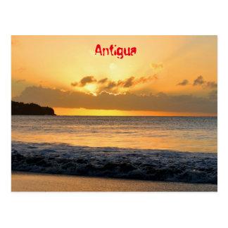 Tropical island in Antigua Postcard
