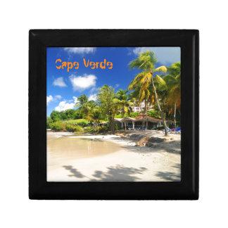 Tropical island in Cape Verde Small Square Gift Box