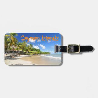Tropical island in Cayman Islands Luggage Tag