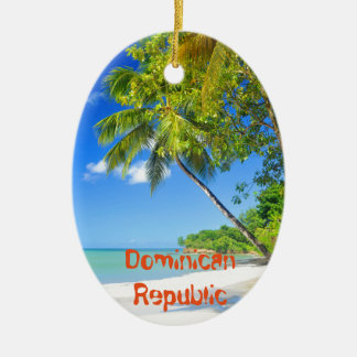 Tropical island in Dominican Republic Ceramic Ornament