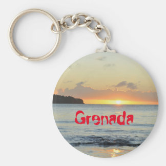 Tropical island in Grenada Key Ring