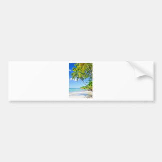 Tropical island in Mauritius Bumper Sticker