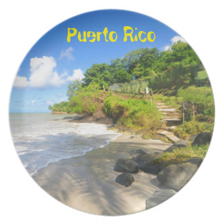 Tropical island in Puerto Rico Party Plates