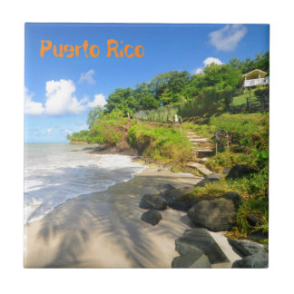 Tropical island in Puerto Rico Tile