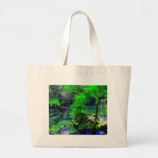 Tropical Island Lagoon Large Tote Bag