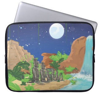 Tropical island laptop sleeves