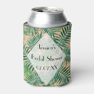Tropical Island Leaf Personalized Can Cooler