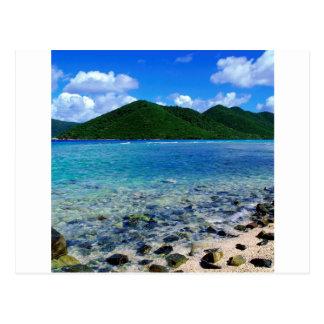 Tropical Island Mary Creek Point Shore St John Postcard