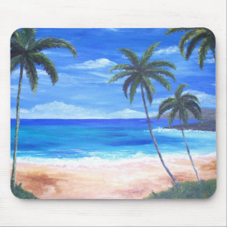 Tropical Island Mouse Pad