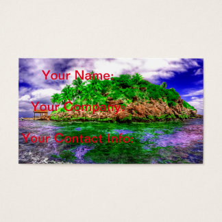 Tropical Island Oasis Business Card