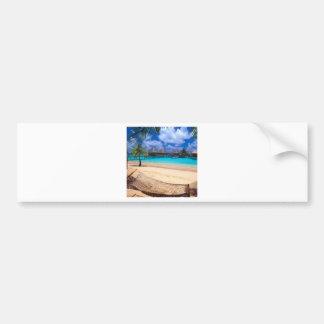 Tropical Island Of French Polynesia Bumper Sticker