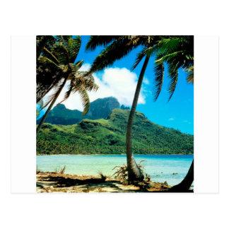 Tropical Island Otemanu Peak French Polynesia Postcard