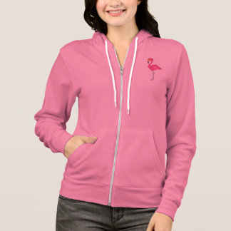 Tropical Island Pink Flamingo Bird Hoodie