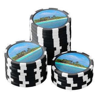 Tropical Island Poker Chips
