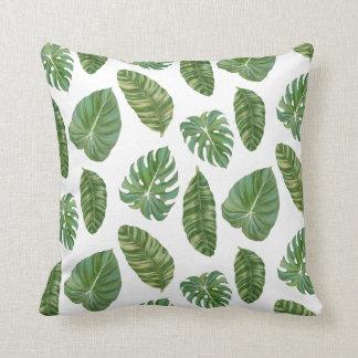 Tropical Island Resort Banana Leaf Modern Stylish Cushion