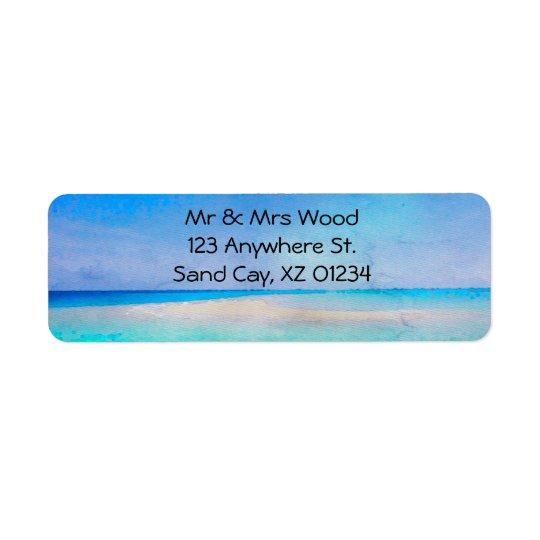 Tropical Island Return Address Label