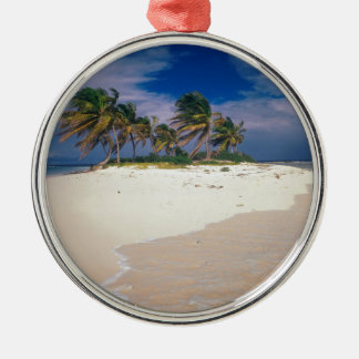 Tropical Island Sandy Anguilla Metal Ornament