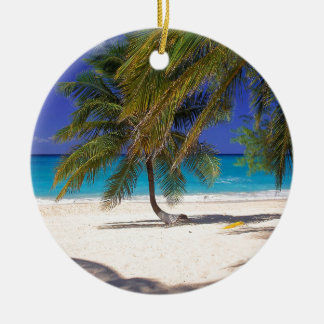 Tropical Island Seven Mile Grand Cayman Ceramic Ornament