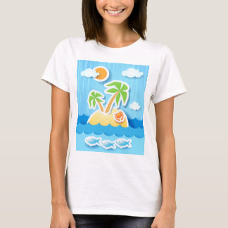 Tropical island, shirt