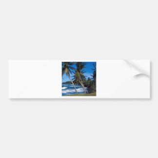 Tropical Island Summer Waves St Lucia Bumper Sticker