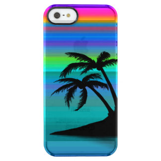 Tropical Island Sunset Clear iPhone SE/5/5s Case