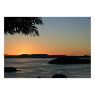 Tropical Island Sunset - Gift Certificate Pack Of Chubby Business Cards