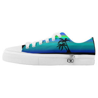 Tropical Island Sunset Low Tops