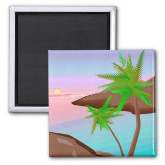 Tropical Island Sunset Magnet