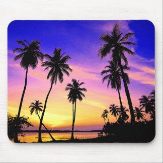 Tropical Island Sunset Over Sri Lanka Mouse Pad