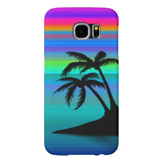 Tropical Island Sunset Samsung Galaxy S6 Cases