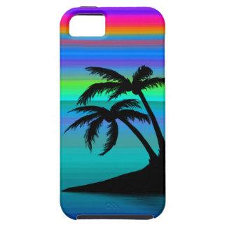 Tropical Island Sunset Tough iPhone 5 Case