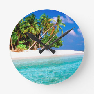 Tropical Island Trade Winds Maldive Round Clock