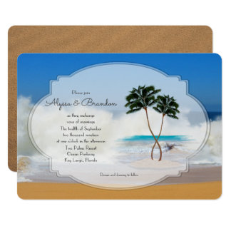 Tropical Island Wedding Invitation