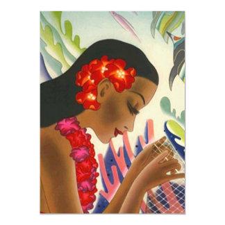 Tropical Islands Lei Luau Party Tiki Invitations