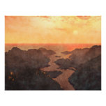 Tropical Islands Sunset Poster