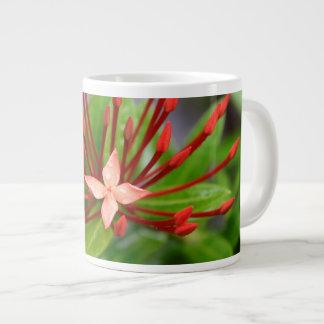 Tropical Jumbo Red Flower Panama Coffee Mug Yotigo