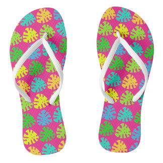 Tropical Jungle Print - Flip Flops Thongs