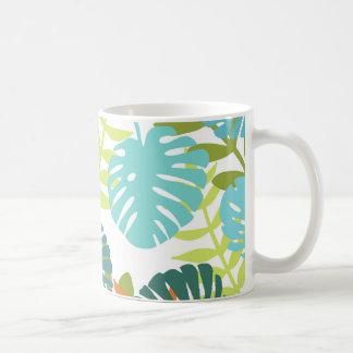 Tropical jungle with palm leaves coffee mug