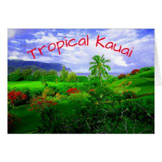 Tropical Kauai Hawaiian Island Card