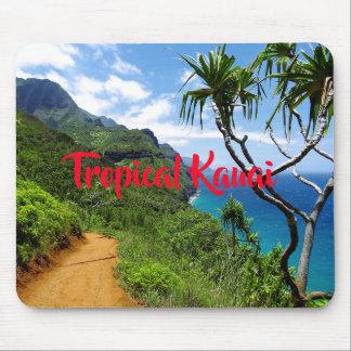 Tropical Kauai Nepali Coast Hawaii Mouse Pad