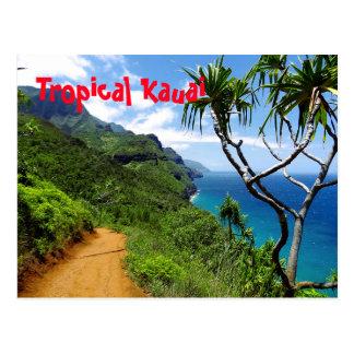 Tropical Kauai Nepali Coast Hawaii Postcard