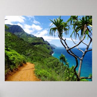 Tropical Kauai Nepali Coast Hawaii Poster