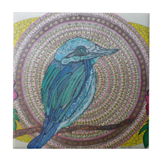 Tropical Kingfisher Small Square Tile