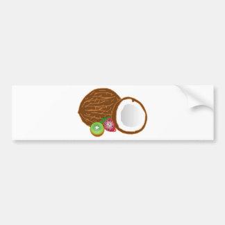 Tropical Kiwi Coconuts Bumper Sticker